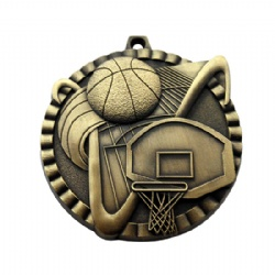 3D Basketball Medal