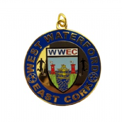 Hard Enamel Football Medal